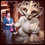 And here's a random picture of me with a Troll from Epcot