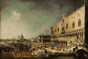 Canaletto, The Reception of the French Ambassador Jacques–Vincent Languet, Compte de Gergy at the Doge's Palace, 4 November 1726